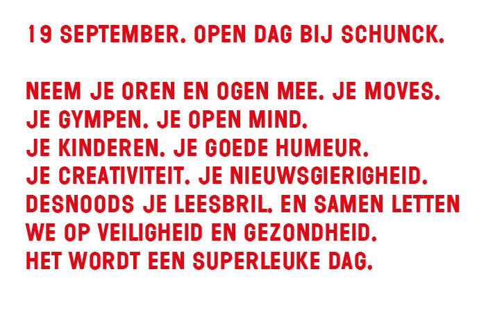 Open Dag SCHUNCK